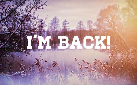 I'm back and backedup!