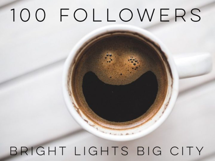 Bright Lights Big City has reached 100 followers!