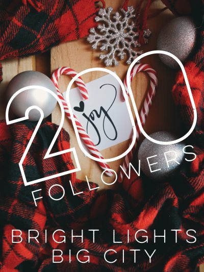 Bright Lights Big City has reached 200 followers