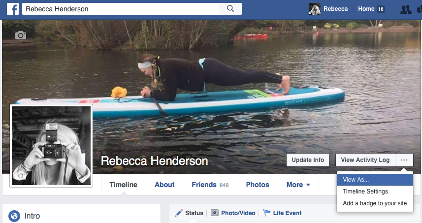 how to change how facebook profile looks to public