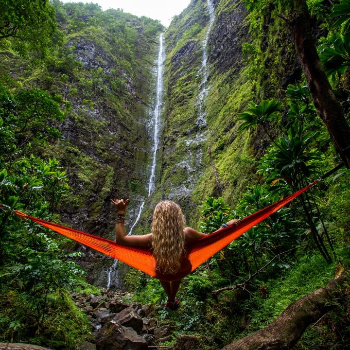 women-waterfall
