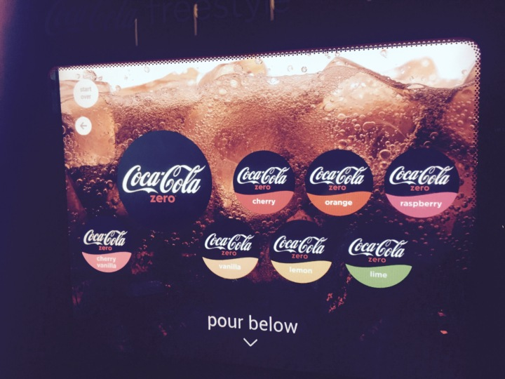 Easily pleased - flavoured coke on tap rocked my little world up!