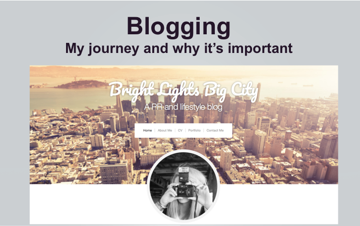 My blogging journey and why blogging is important if you're starting out inPR