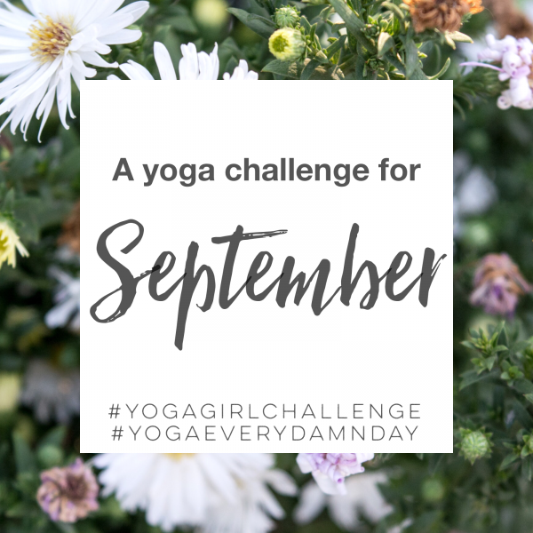 A yoga challenge for September