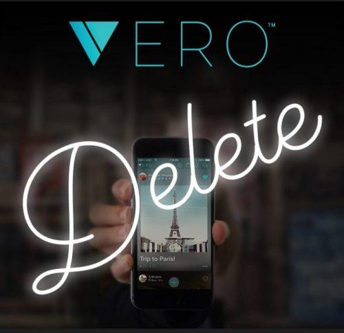 How to delete your Veroaccount