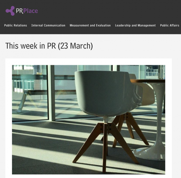 Bright Lights Big City features in 'This week in PR', PR Place, 23 March