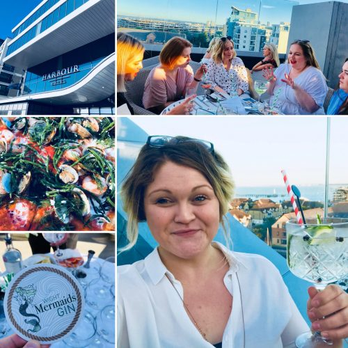 Mermaid Gin and summer vibes on the HarBar on 6th terrace