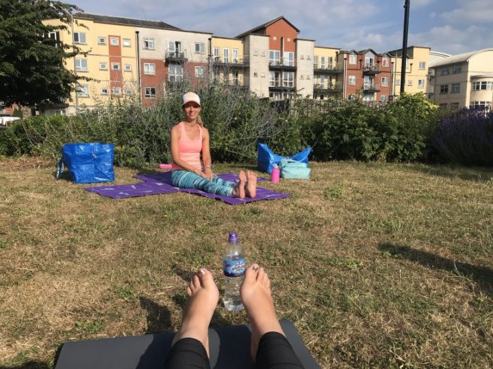 Yoga in the park in Southampton
