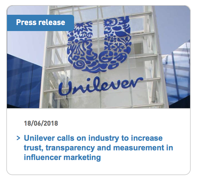 Unilever pledges to stop advertising with influencers that buy followers