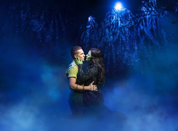 Wicked UK Ireland Tour 2018 Aaron Sidwell (Fiyero) and Amy Ross (Elphaba) Photo by Matt Crockett