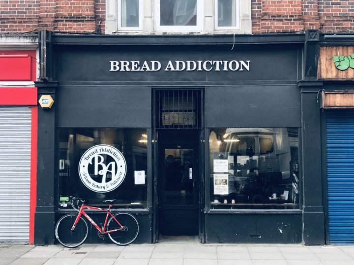 Picking up pastries from Bread Addiction in Southsea