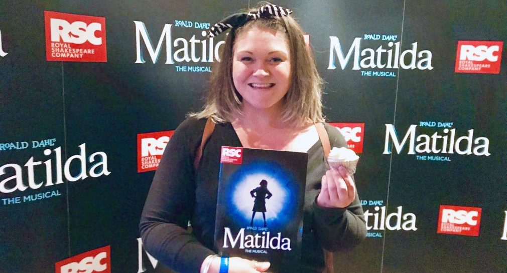 Here I am at Matilda the Musical