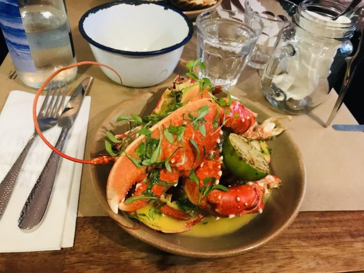 A seafood feast at Prawn on the Lawn in Padstow