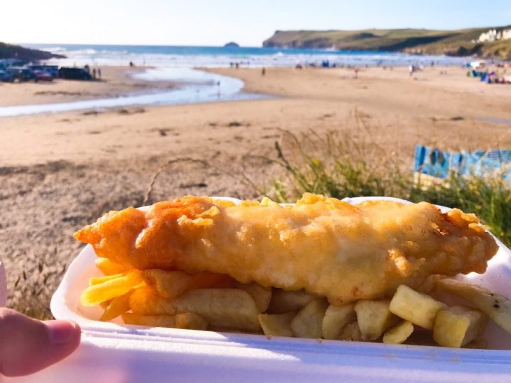 Fish and chips from Hayle's in Polzeath