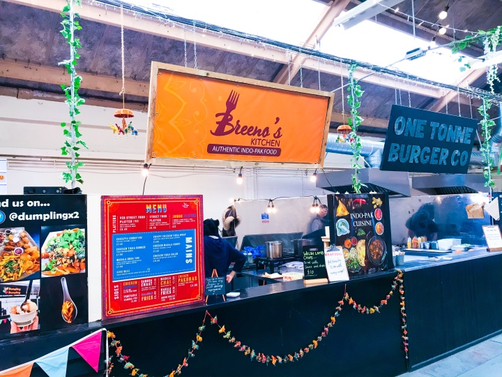 The kitchen of Breeno's Kitchen at Outside-In Food Court